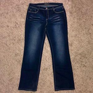 Dark Wash Bootcut Jeans w/Stretch